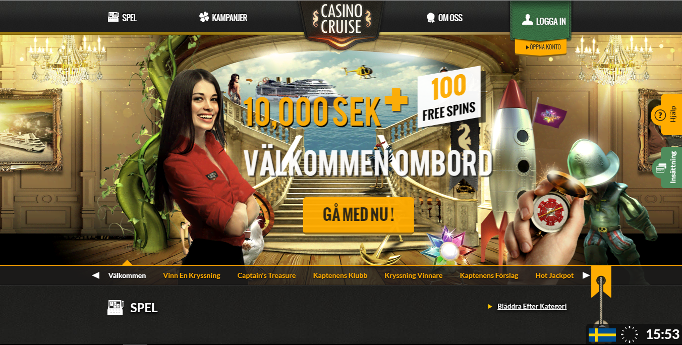 casinocruise casino Sverige