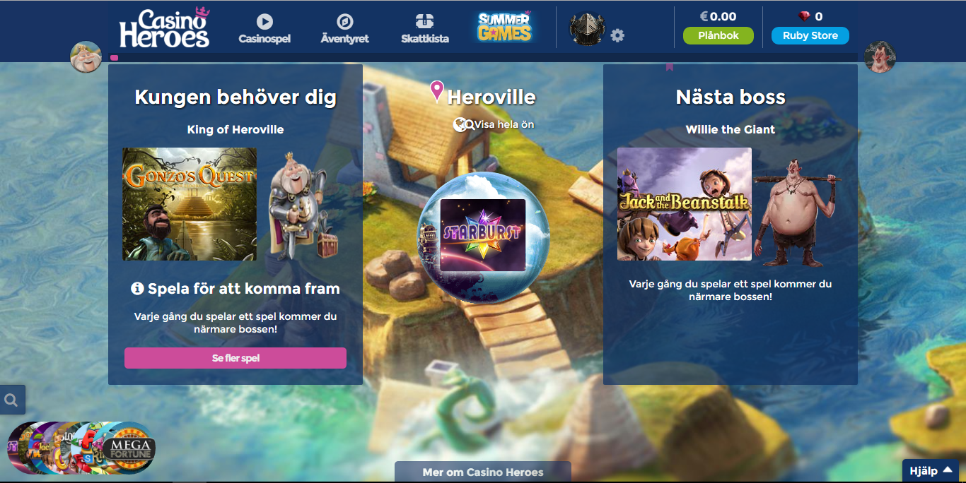 casinoheroes casino i Sverige