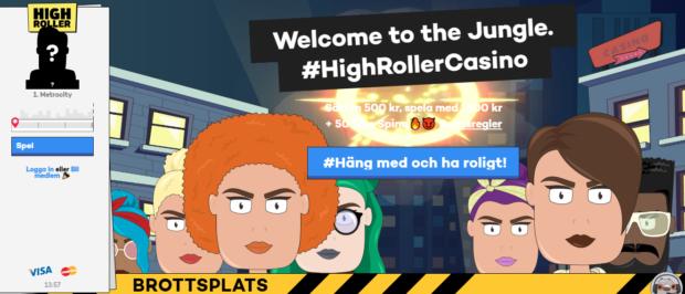 high roller casino lobby