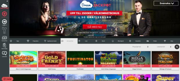 Dreamjackpot lobby