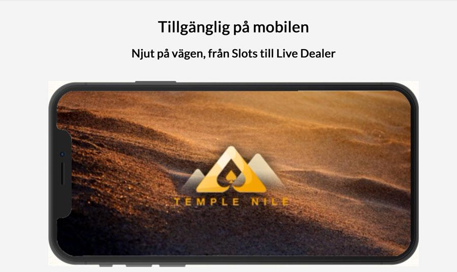Temple Nile i mobilen