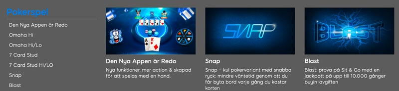 Pokerspel hos 888poker