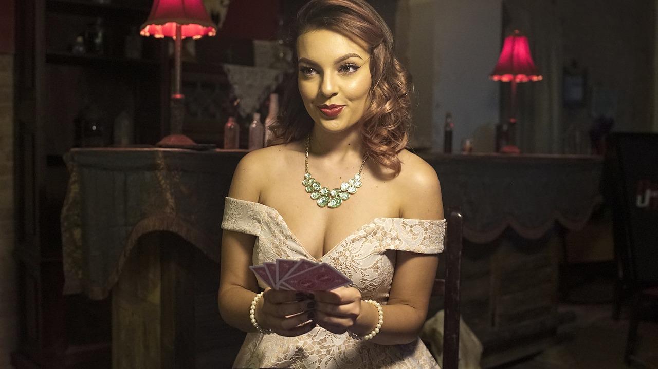 poker kvinna