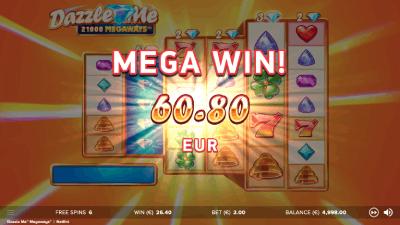 Dazzle me mega win